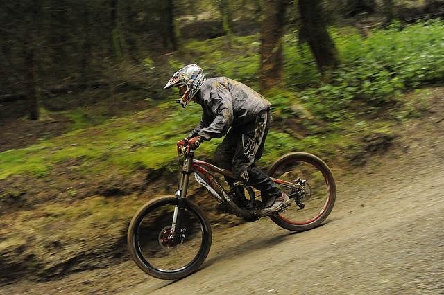 down-hill mountain bike
